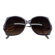 REDUCED 1970s-80s Blue Mauve Sunglasses Ladies