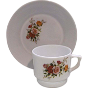 REDUCED Roses Hong Kong Plastic Cup Saucer