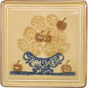 REDUCED Pfaltzgraff America Fruit Basket Trivet Square
