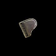 Silver Tone Piano Pin Tie Tack