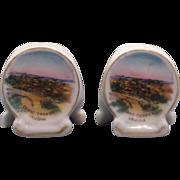 Grand Canyon Hopi House Watch Tower Porcelain Souvenir Salt & Pepper Shakers