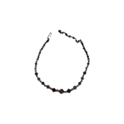 Black Topaz Aurora Borealis Crystal Bicone Bead Choker Necklace