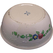 REDUCED Oven-Serve Casserole Homer Laughlin Embossed Flowers Pink Blue