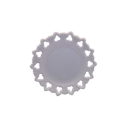 Shell & Club Kemple Milk Glass Plate