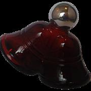 Avon Red Christmas Bells Bottle