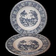 Homer Laughlin Shakespeare Country Dinner Plates