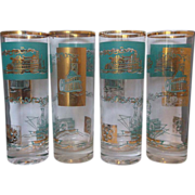 Libbey Riverboat Southern Comfort Tall Tumblers