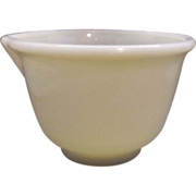 Hamilton Beach Yellow Custard Glass Mixing Bowl Spout 1 Qt