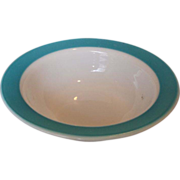 REDUCED Pyrex Turquoise Rim Serving Salad Bowl