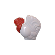 Rooster Avon Bottle Lotion Milk Glass Red Head
