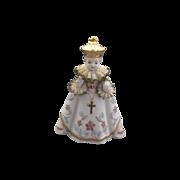 Lefton Infant of Prague Porcelain Figurine Lace Ruffs Hand Painted