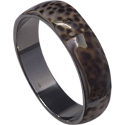 Leopard Cowrie Shell Bangle Bracelet Chunky