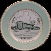 Homer Laughlin Church Plate St. Bernards Catholic Church Wood River, Illinois
