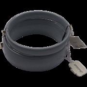 SALE Lisner Goldblatt's Grey Enamel Clamper Bracelets Pair