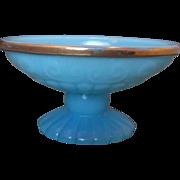 SOLD Avon Bristol Blue Milk Glass Oval Soap Dish