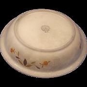 Hall Jewel Tea Autumn Leaf Pie Plate Pan Baker Heavily Crazed Stained