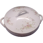 Trenle China Co. Virginia Covered Vegetable Dish Pink Roses