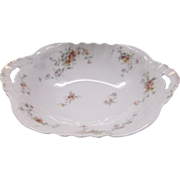 Theodore Haviland Limoges Oval Serving Bowl Pink Flowers