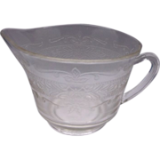 Stippled Rose Band S Pattern Clear Creamer MacBeth-Evans