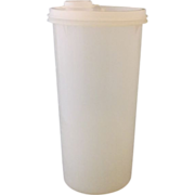 REDUCED Tupperware 48 oz. Handolier Pitcher Container Sheer White