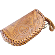 REDUCED Houston Tooled Leather Coin Purse