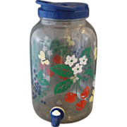 Fruit Floral Sun Tea Drink Beverage Glass Jar 1 Gallon