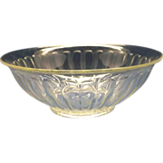 Clear Glass Ribbed Pillar Optic Mixing Serving Bowl