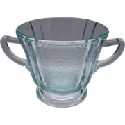 SALE Indiana Recollection Teal Glass Sugar