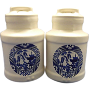 SALE McCoy Blue Willow Salt Pepper Shakers
