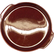 Decorama Burgundy Tab Handle Cake Plate Pottery