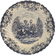 Coaching Scenes Dinner Plate Blue Johnson Bros England