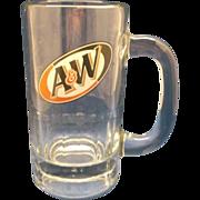 SOLD A&W Slanted Logo Mug Stein Clear Glass