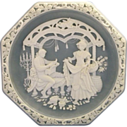 SALE Incolay Stone Marriage of Figaro Plate Love Themes Grand Opera