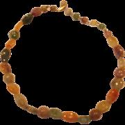 SALE Faux Gemstone Necklace Single Strand Hong Kong
