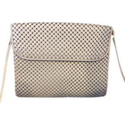 Whiting & Davis Grey Enamel Mesh Shoulder Bag