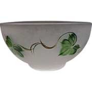 Gay Fad Ivy Satin Glass Large Salad Punch Serving Bowl
