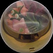 SALE Henriette Ball Compact 1940s Silk Flowers