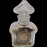 Baccarat Small Crystal Perfume Bottle Guerlain Paris Heure Bleue
