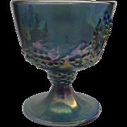 SOLD Indiana Blue Carnival Harvest Grape Sugar Bowl