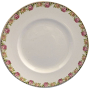 Johnson Bros England Pink Yellow Roses Band Luncheon Plate