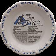 Watkins Dutch Brownie Pie Plate Royal China