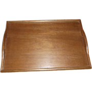 MidCentury Modern Solid Teak Bed Tray