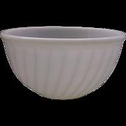 "Fire-King White Swirl 9"" Mixing Bowl"