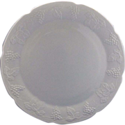 SOLD Indiana Glass Harvest Grape Milk Glass Chop Plate Platter