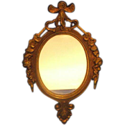 Small Mirror Made in Italy Roses Oval Frame