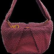 SALE Royal Purple Plastic Beaded Purse 1940s