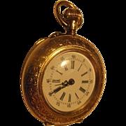 Victorian Ladies' 14K Gold Swiss Pendant Watch