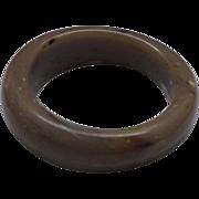 Cafe au Laut Marbled Chunky Lucite Bangle Bracelet