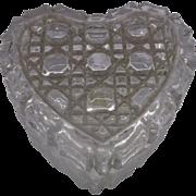 SALE Daisy Button Lead Crystal Heart Trinket Box Taiwan
