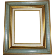 SALE Gold Green Painted Wooden Frame 19 x 22 Made in Mexico